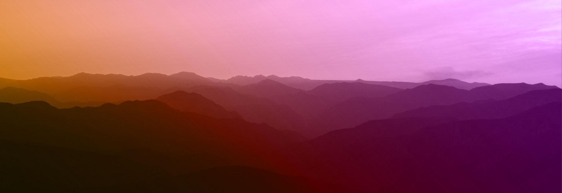 Banner- Paisaje - Siluetas de montañas