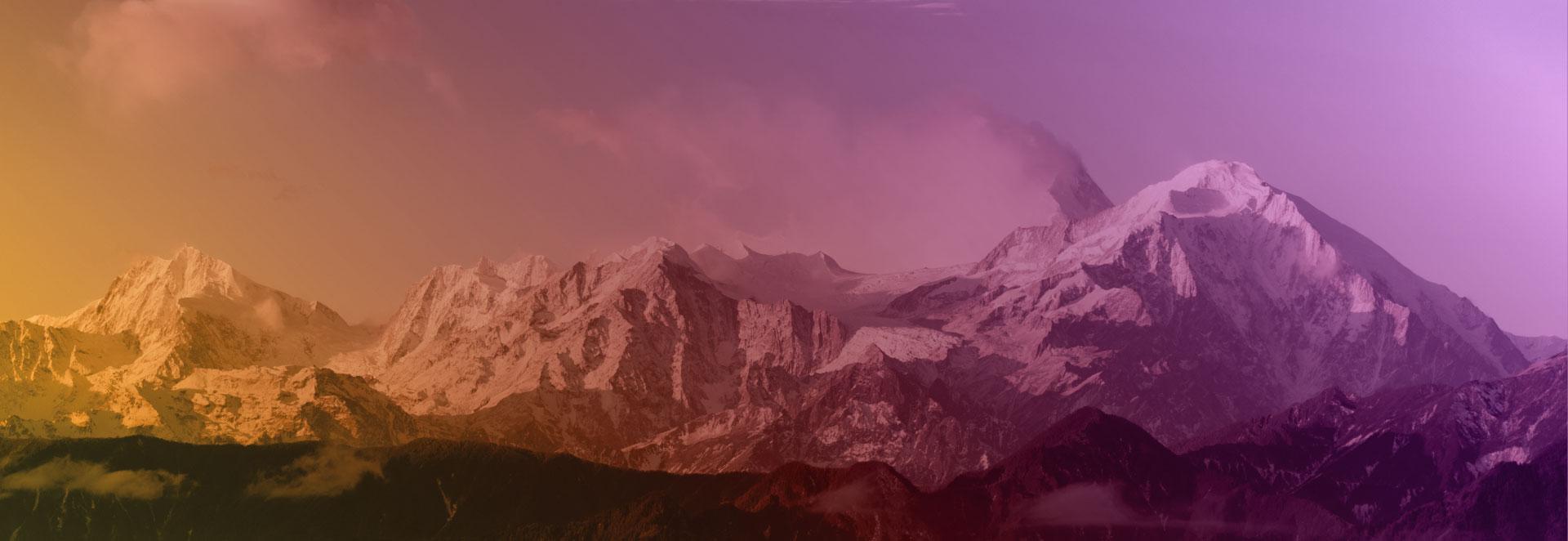 Imagen de un paisaje montañoso