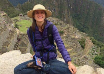 Alexa Traugott, profesora de yoga en Machu Pichu